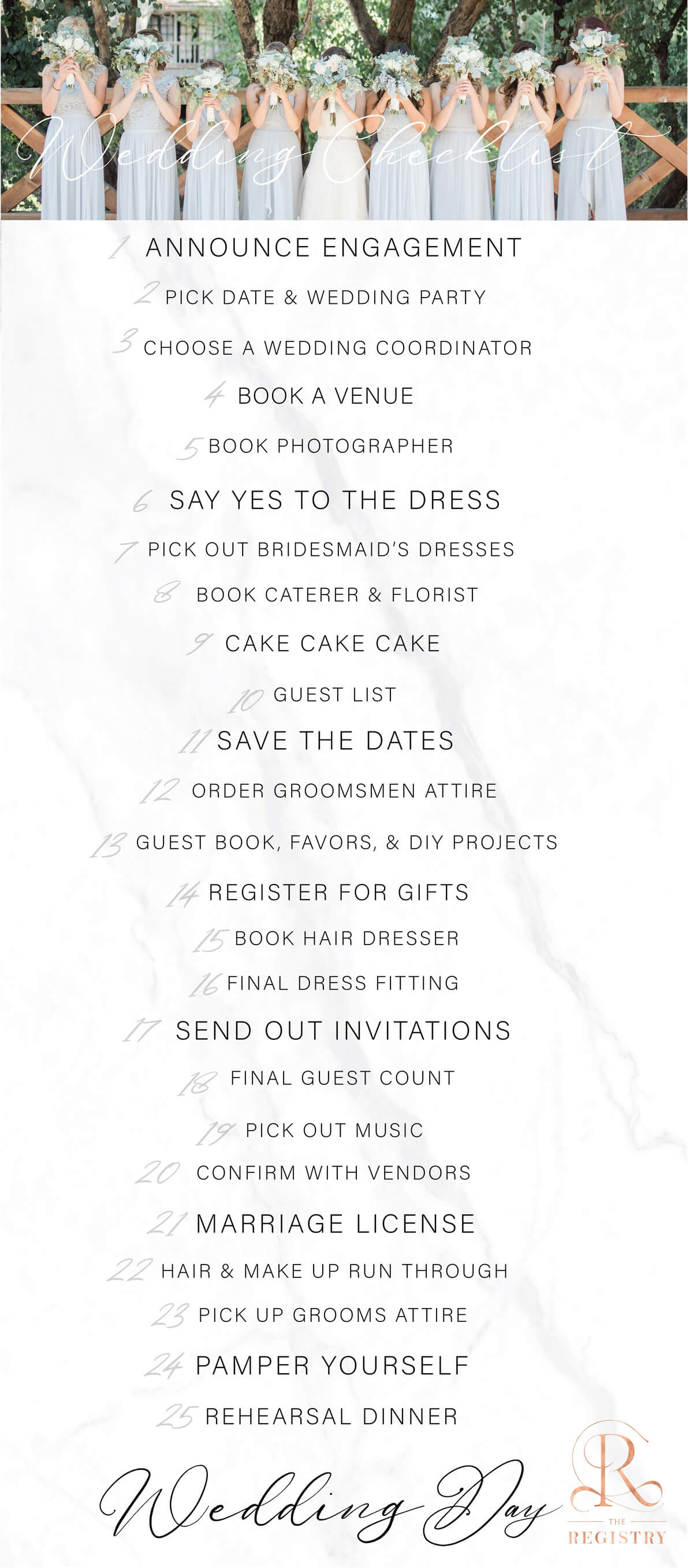 The Registry Wedding Checklist